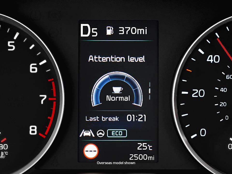 Driver Attention Alert Plus with Lead Vehicle Departure Alert