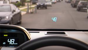 Prius V Head-Up Display