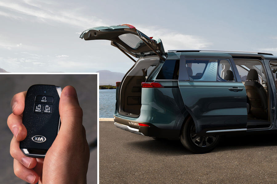 One-touch open and close power doors and tailgate