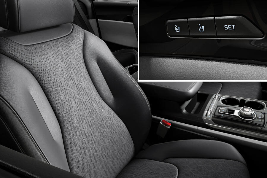 Integrated memory seats