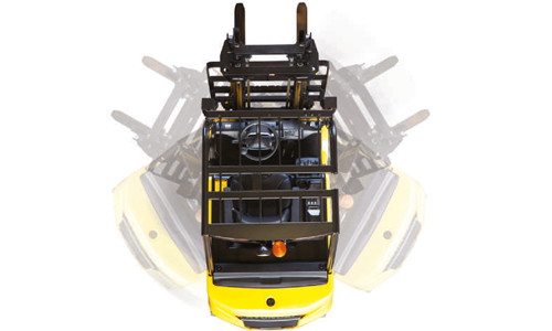 16/18/20 B-9 Designed for compact aisle width and turning radius