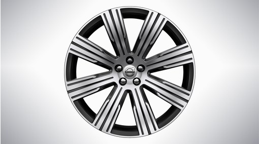 "21"" 8-Multi Spoke Black Diamond Cut Alloy Wheel - 1081"