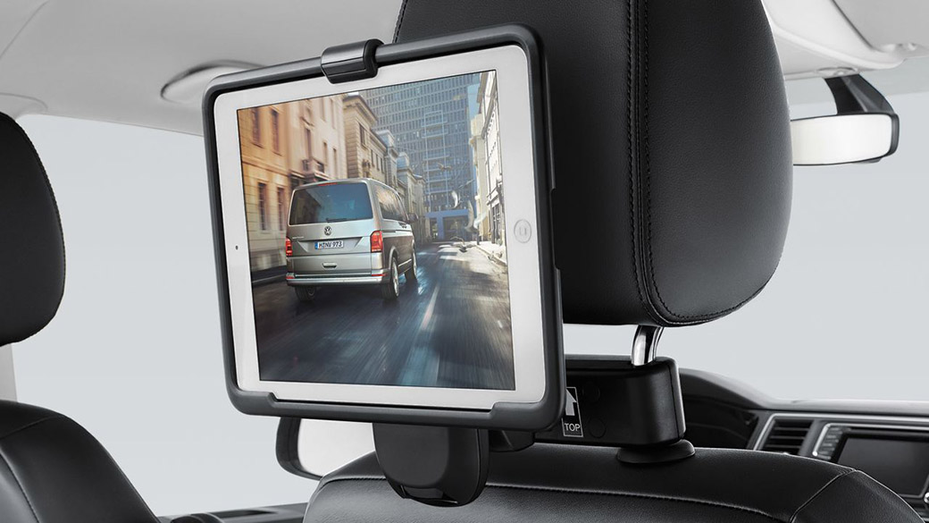 Tablet holder, coat hanger and bag hook Interior Image