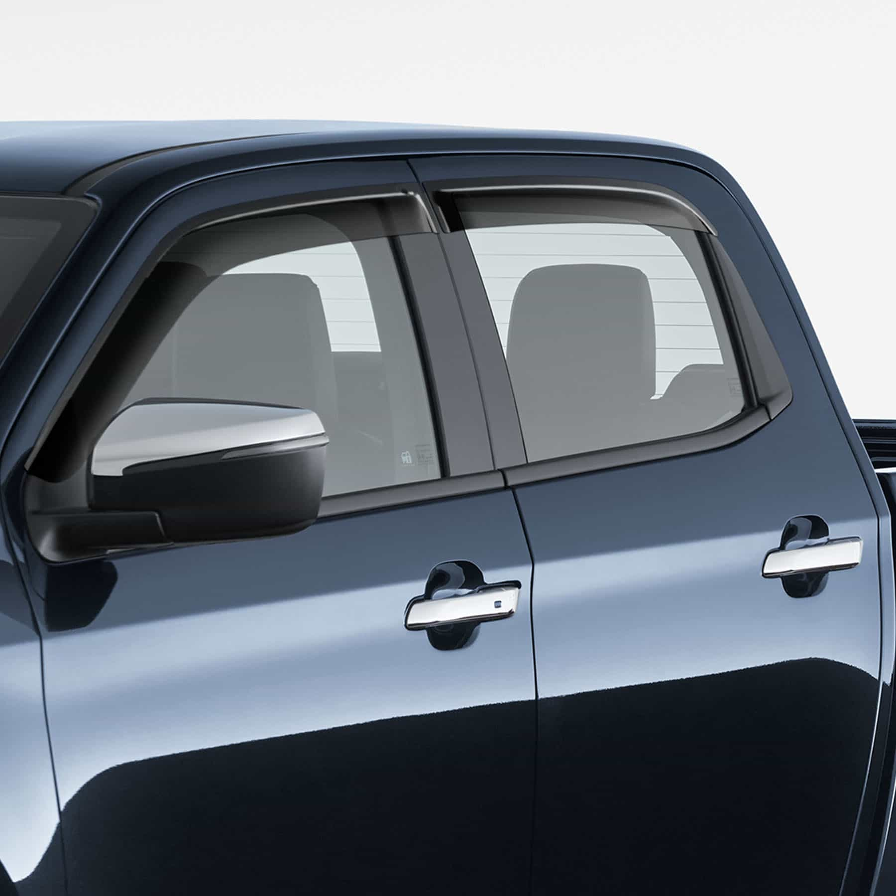 Slimline Weathershields - Dual Cab