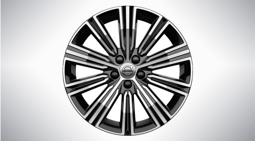 "18"" 10-Multi Spoke Black Diamond Cut - 1038"