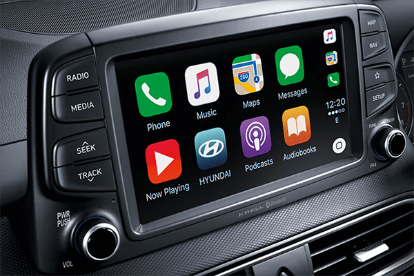 Kona Apple CarPlay & Android Auto compatibility.