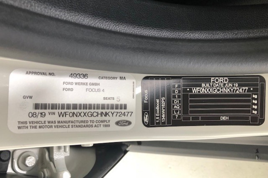 2019 Ford Focus ACTIVE 5D Hatchback Image 11
