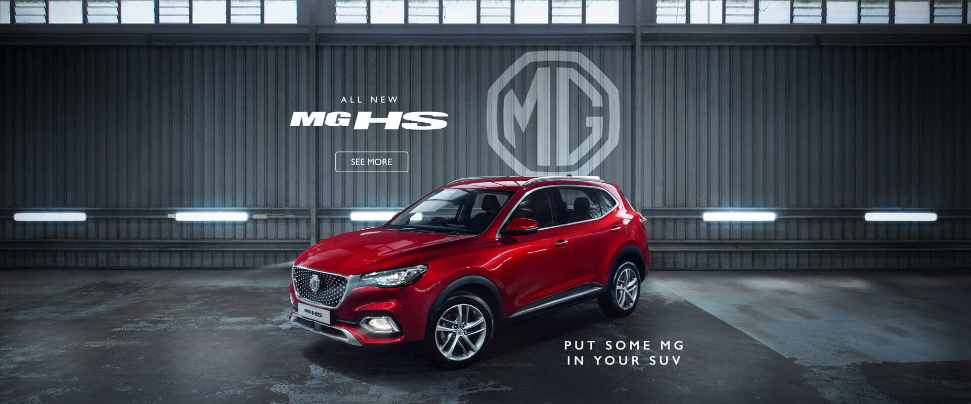 Everything you want in an SUV. Now in an MG. The all new MG HS