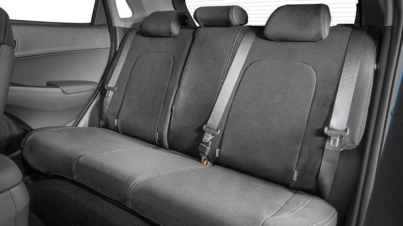 Neoprene rear seat cover.
