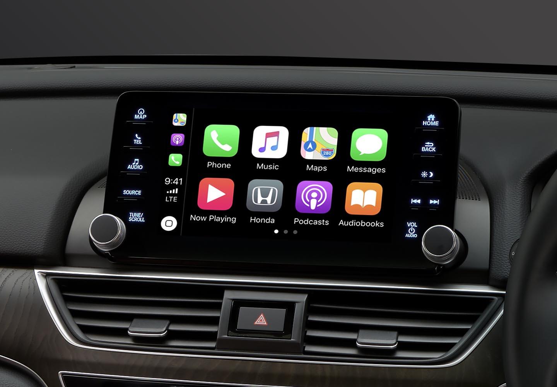 Accord Apple Carplay®<sup>1</sup> & Android Auto®<sup>2</sup>