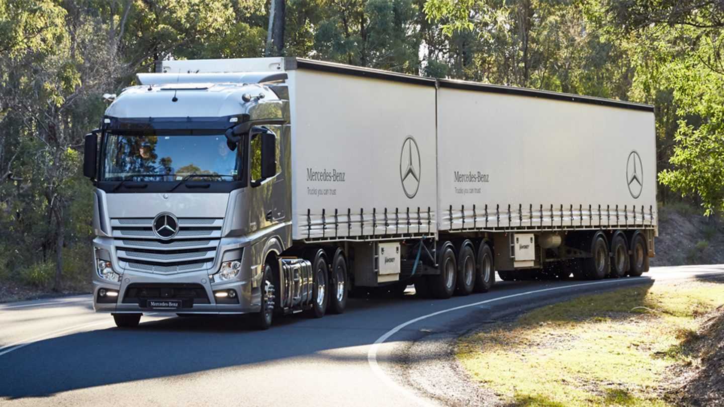 Actros Prime Movers Trucks you can trust - for more reliability.
