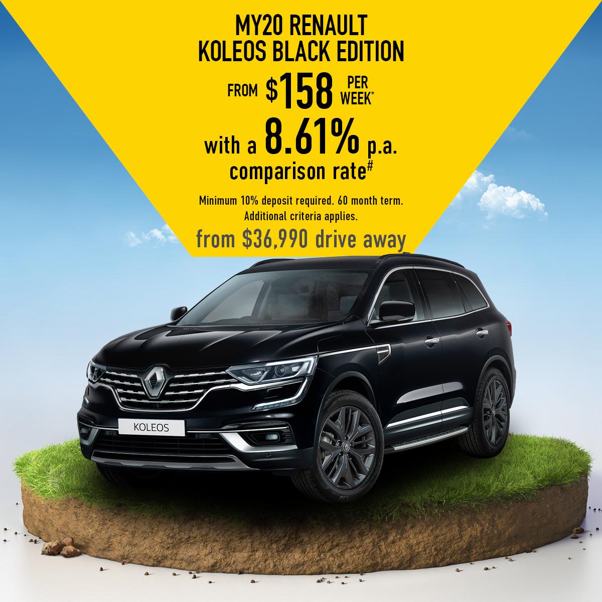 2020 MY20 Renault Koleos Black Edition