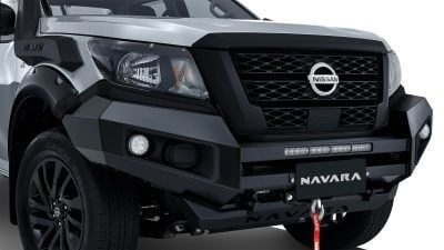 OFF-ROAD COATED HOOPLESS BULLBAR