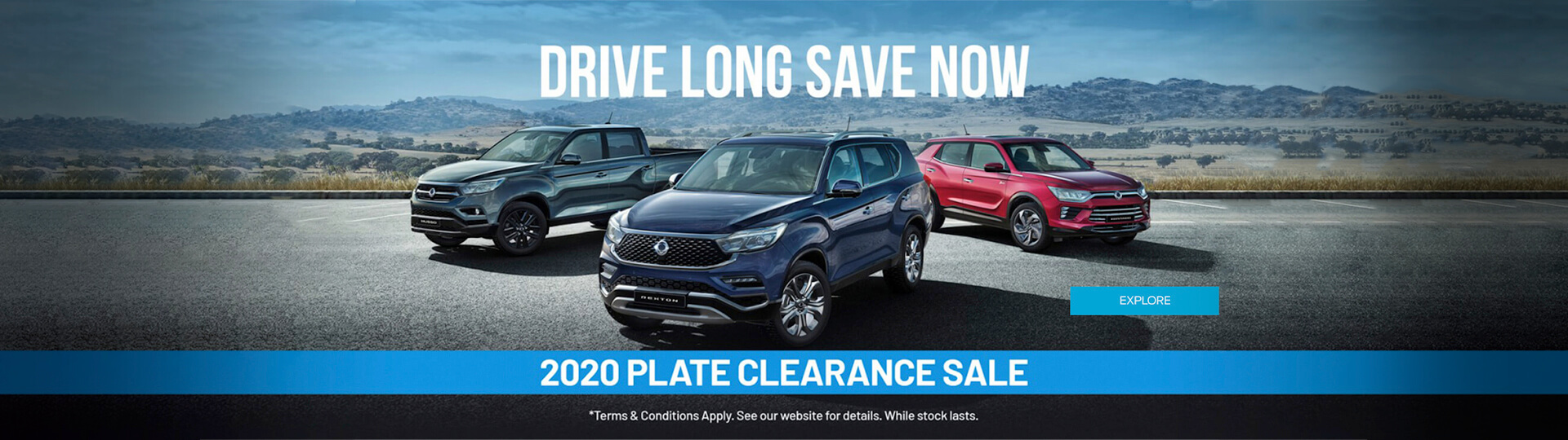 SsangYong - Drive Long. Save Now. 2020 Plate Clearance Sale