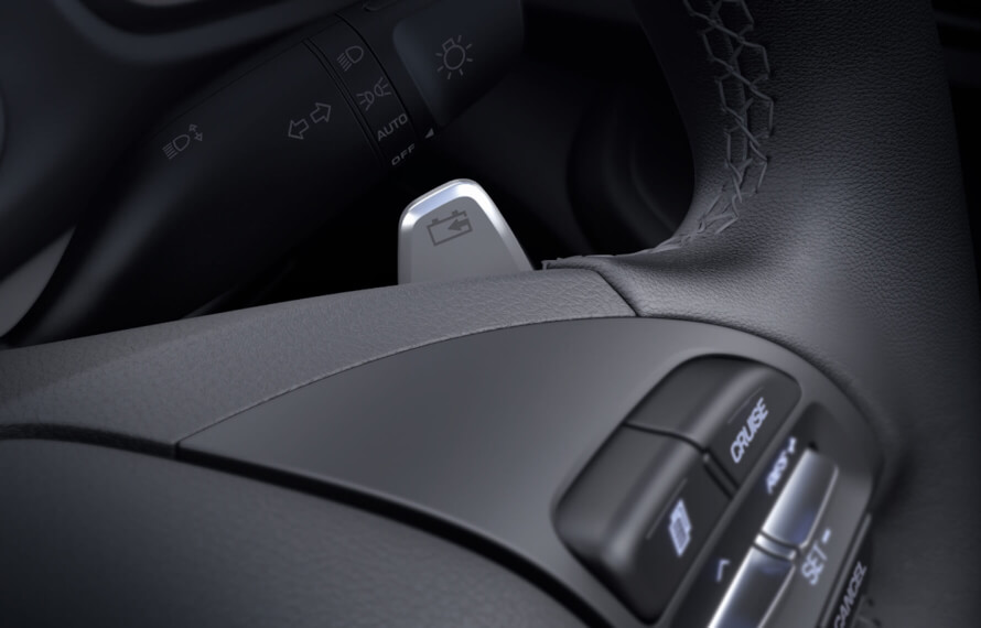 IONIQ Electric Regenerative braking.