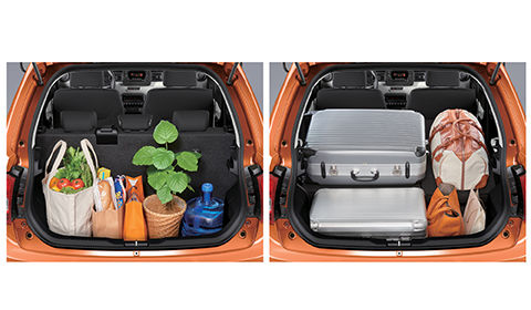 Ignis Luggage space with adjustable capacity