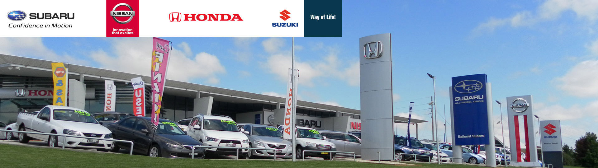 With four of the top Marque brands Subaru, Nissan, Honda and Suzuki at our state of the art Dealership located at 98 Corporation Avenue (opposite the RMS), our aim is for every customer to Drive Away Happy.