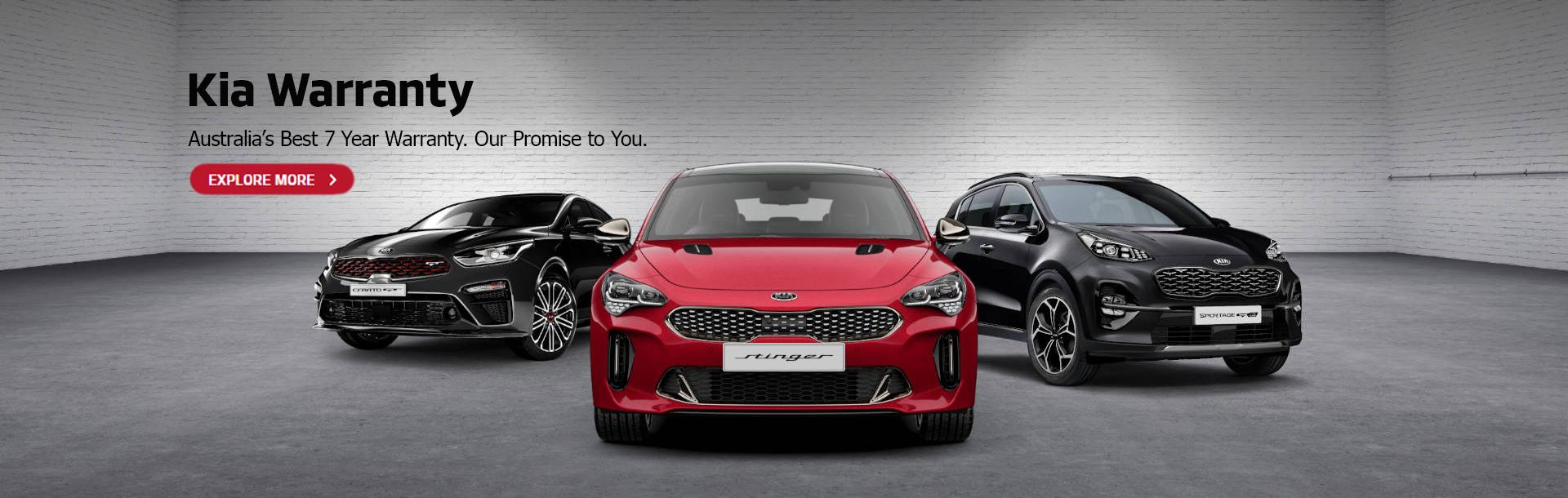 Kia Warranty. Australia's best 7 year warranty. Our promise to you