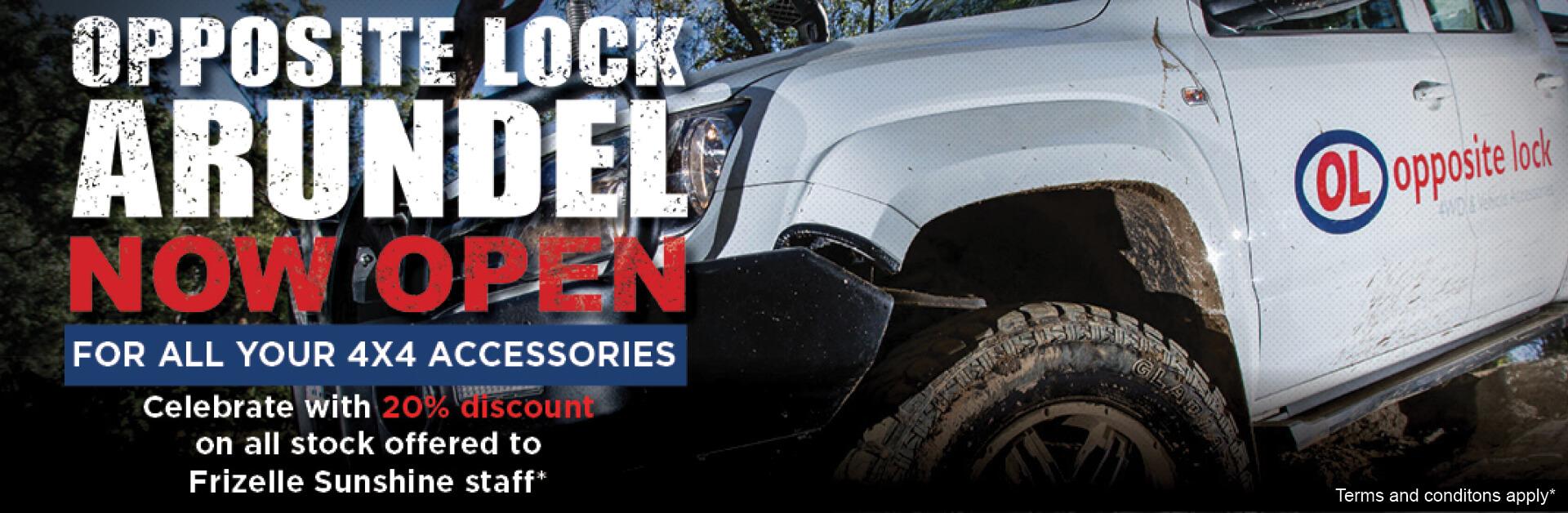 Opposite Lock 4WD Accessories now open Arundel