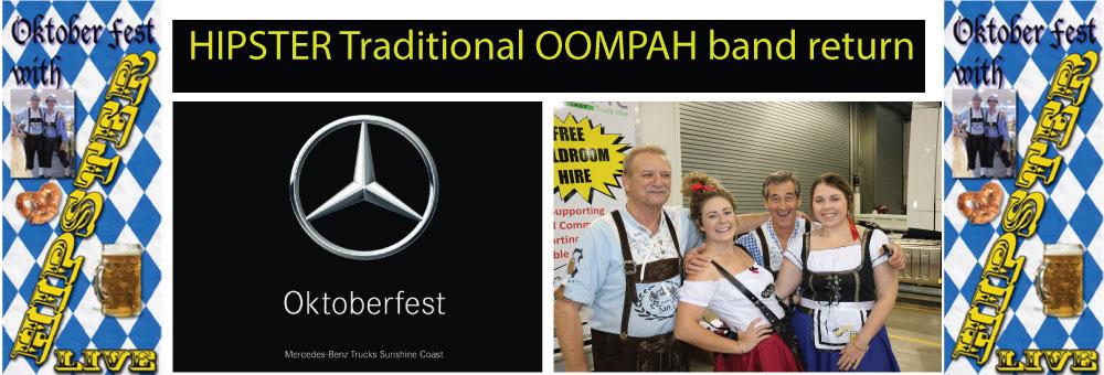 TRADITIONAL OOMPAH BAND STAR AT OKTOBEREST