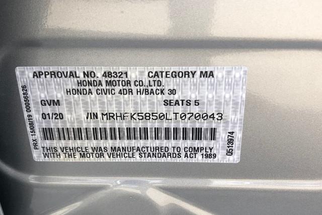 2020 Honda Civic Hatch 10th Gen VTi Hatchback Image 5