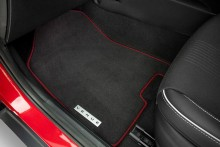 Tailored carpet floor mats (set of 4) - red edging.