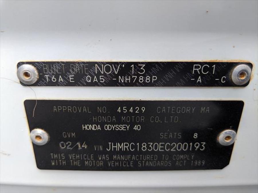 2013 MY14 Honda Odyssey 5th Gen VTi Wagon