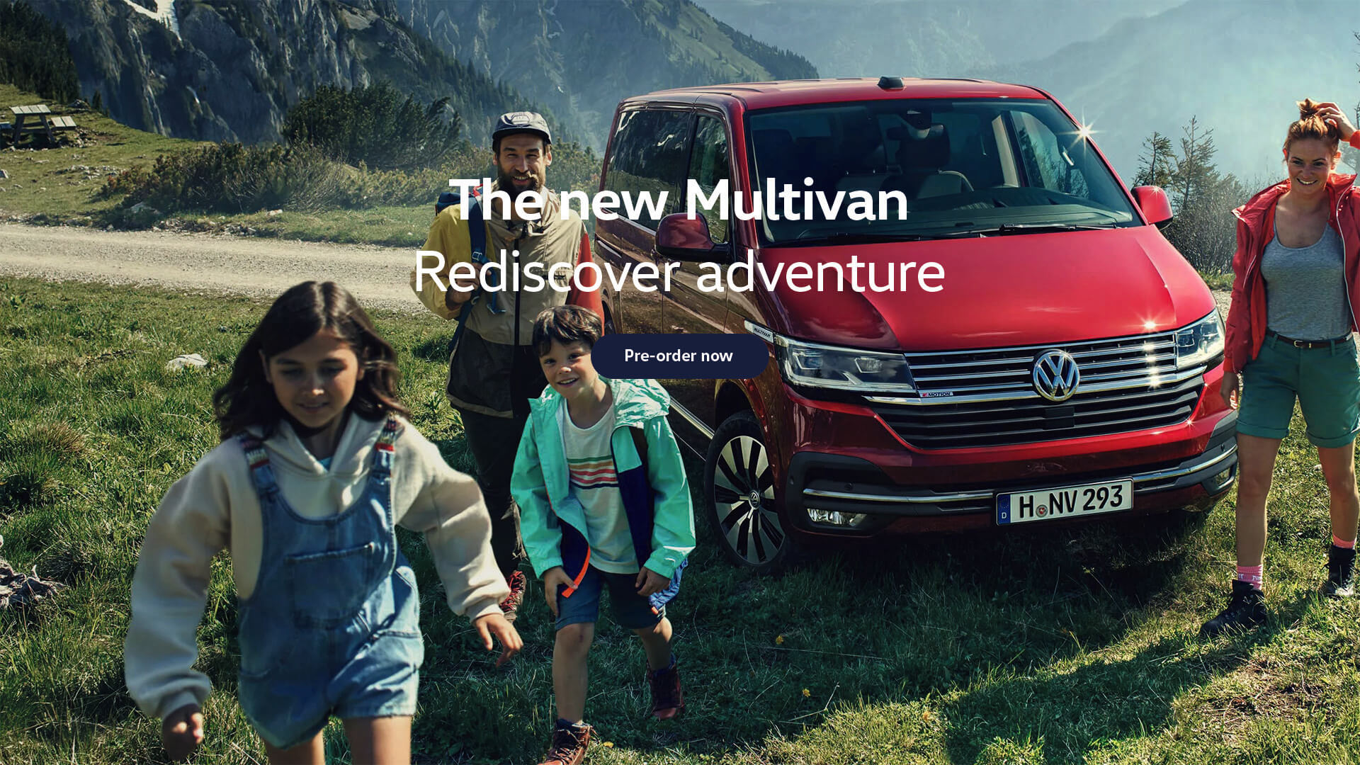 The new Multivan. Rediscover Adventure.