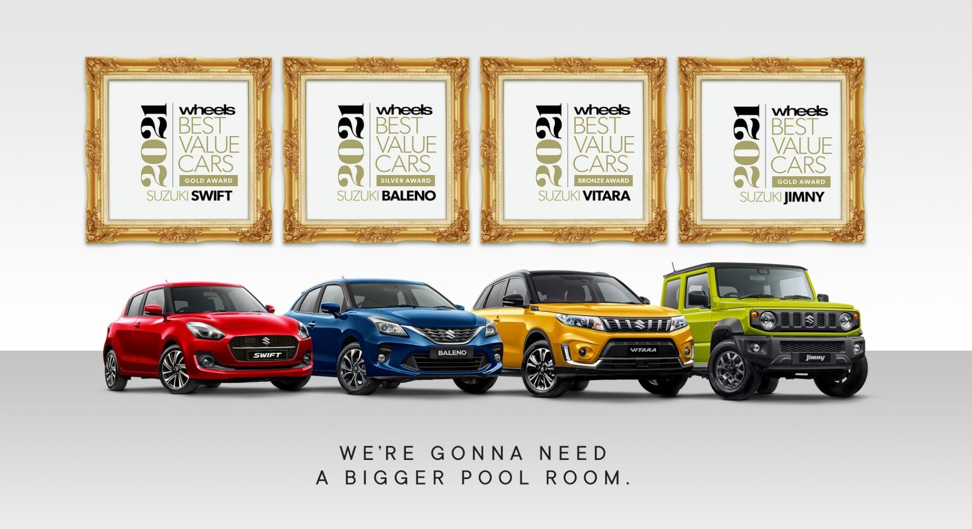 We're gonna need a bigger pool room. View the latest Suzuki Offers.