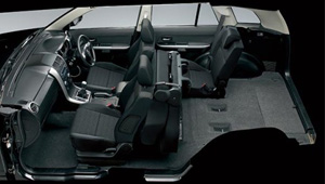 Grand Vitara Luggage space and flexible seats.