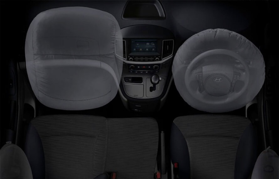 iLoad Dual front and side airbags.