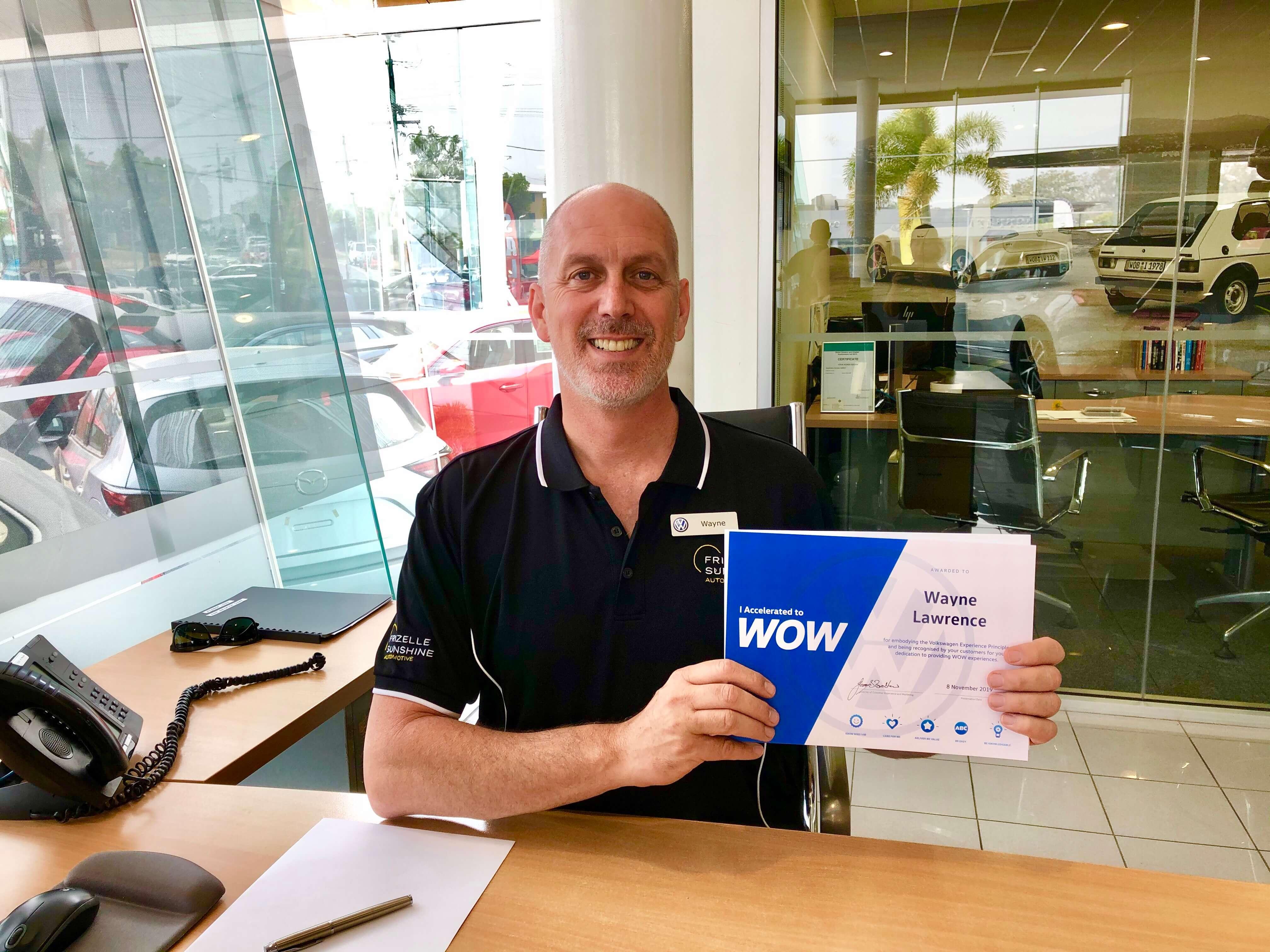Wayne Receives Volkswagen Award