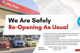 Parramatta MG Sales, Service & Parts Reopening For Customers | Book Today