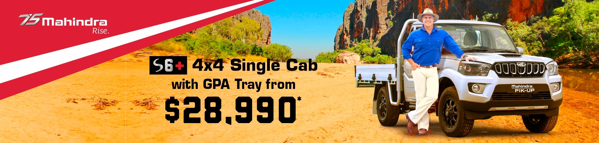 S6+ Single Cab 4x4. View all current Mahindra Offers.