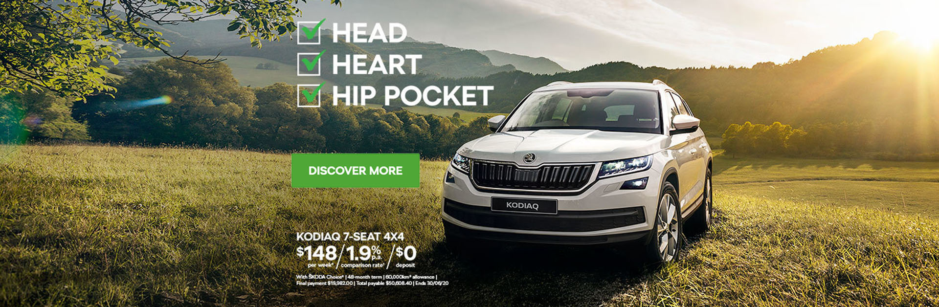 Tamworth Skoda. Head Heart Hip Pocket. Kodiaq 7-Seat 4x4