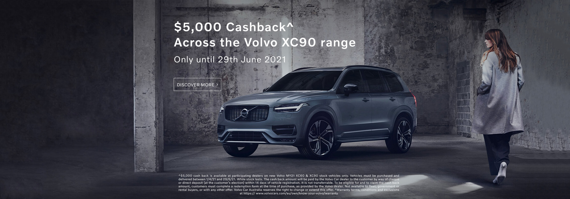 $5,000 Cashback across the XC90 range