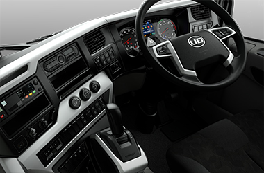 Quon CD Dashboard designed for driver comfort