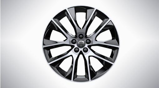 "20"" 10-Spoke Black Diamond Cut Alloy Wheel - 226"