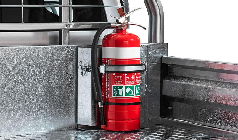 """<img src=""""Fire Extinguisher Bracket - Large"""