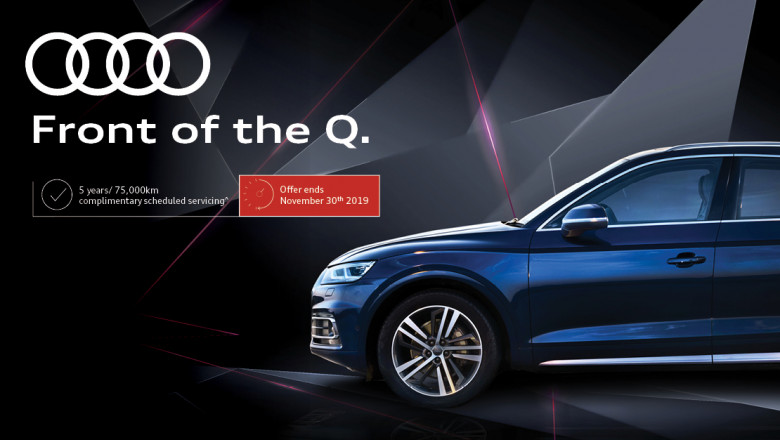 Audi Front of the Q