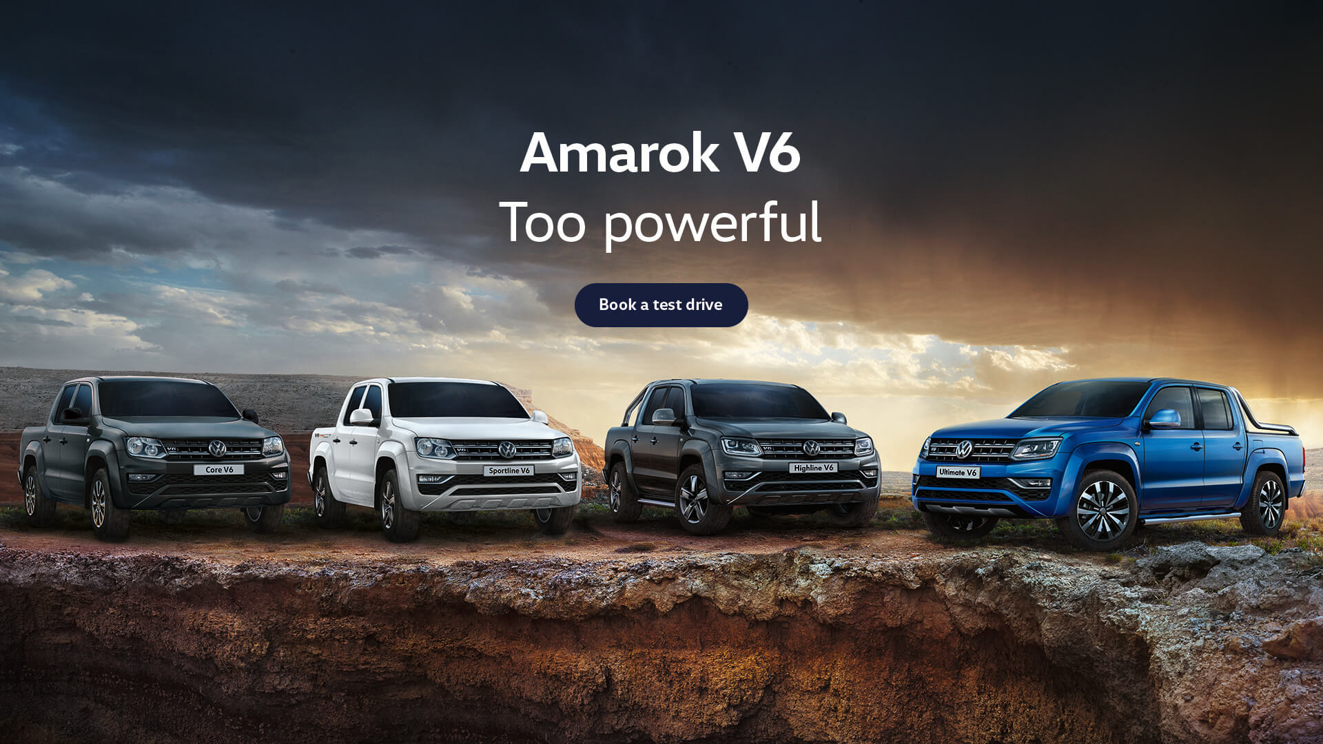 Amarok V6. Too powerful. Test drive today at Woodleys Volkswagen, Tamworth