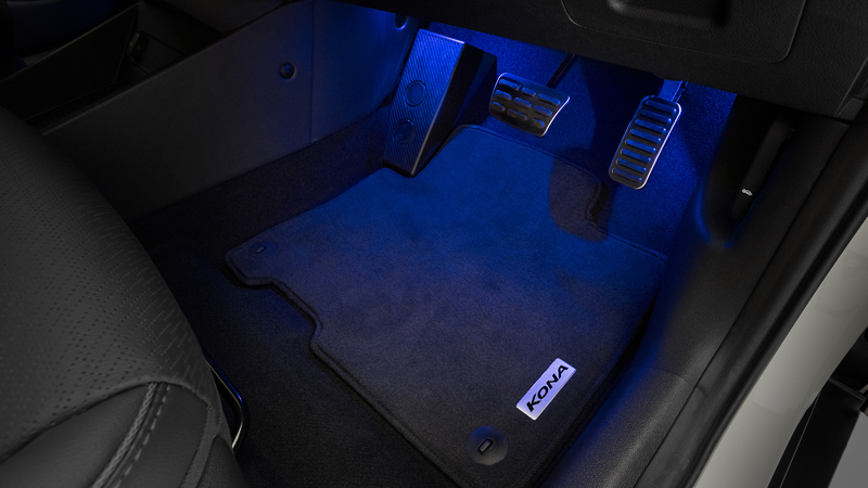 """<img src=""""Front and rear interior footwell lighting."""