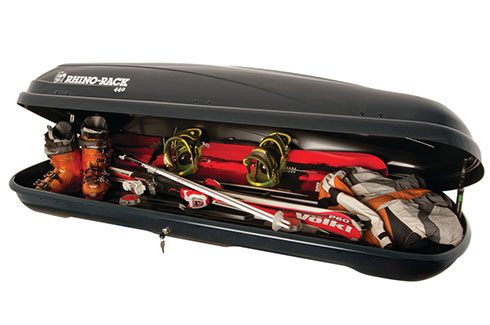 Rhino-Rack Roof Luggage Boxes - 400L Black