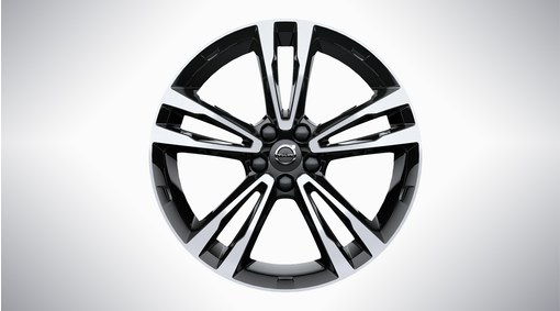 "19"" 5-Double Spoke Black Diamond Cut - 224"