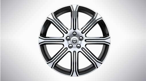 "20"" 8-Spoke Black Diamond Cut - 1012"