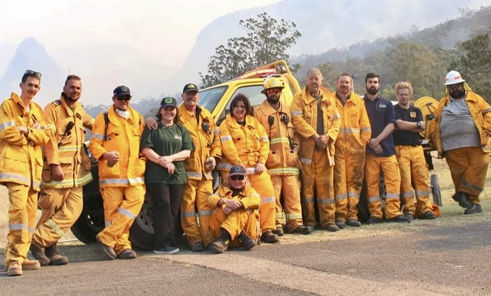 Zac helps fight recent bushfires in his community