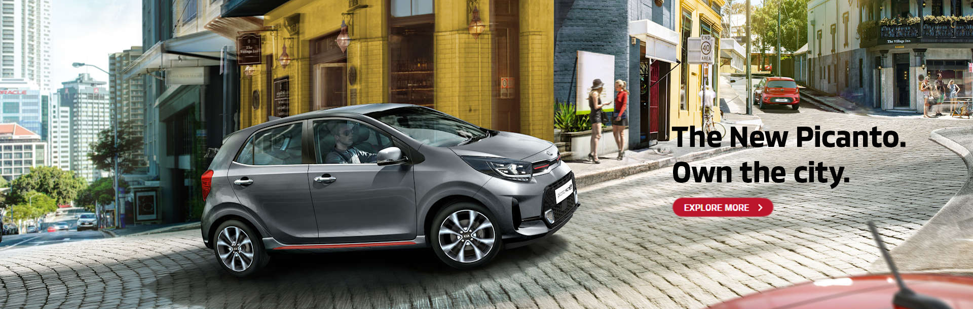 The all new Kia Picanto. Own the city. Explore more.