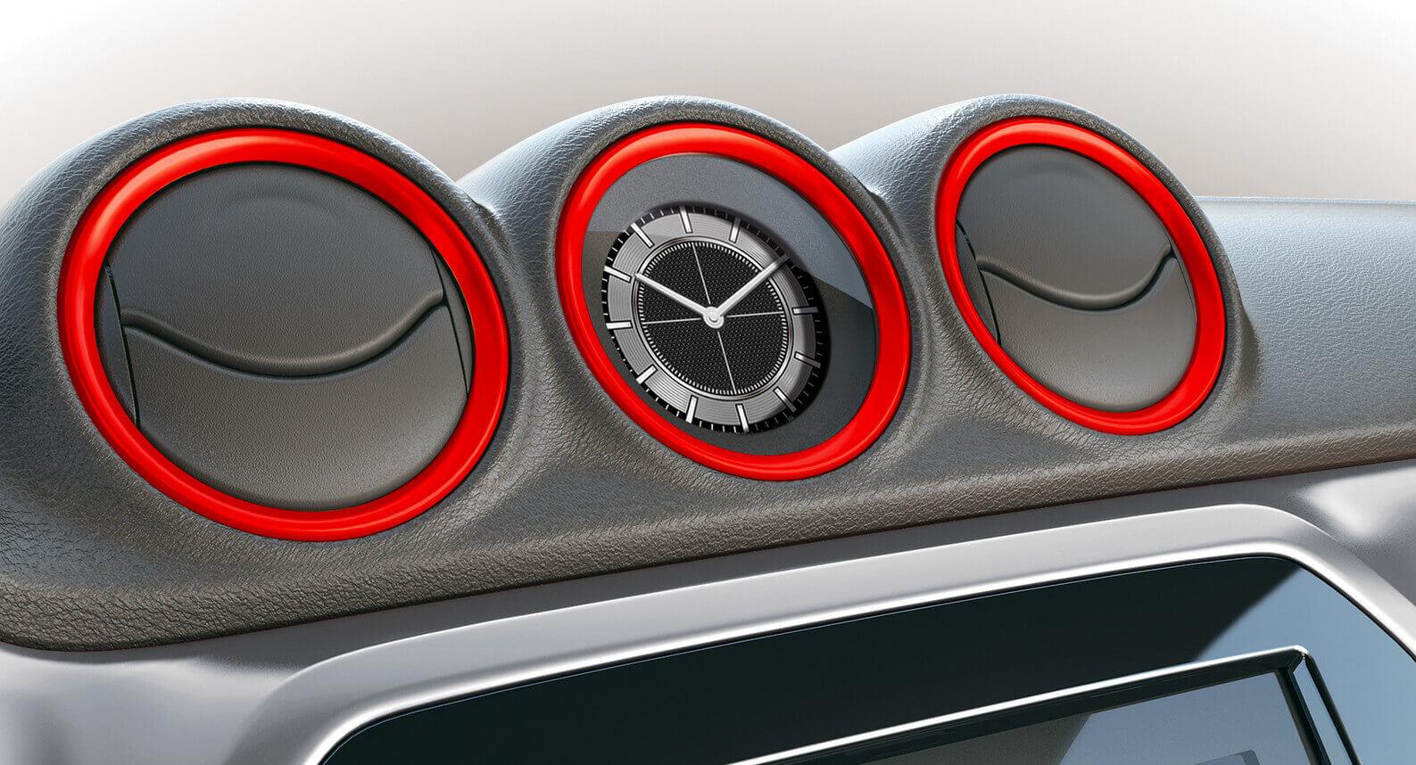 Vitara Air Conditioner Ring Set - Bright Red