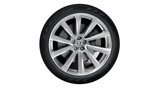 "21"" 10-Spoke Turbine Tinted Silver Diamond Cut Alloy Wheel - 800144"