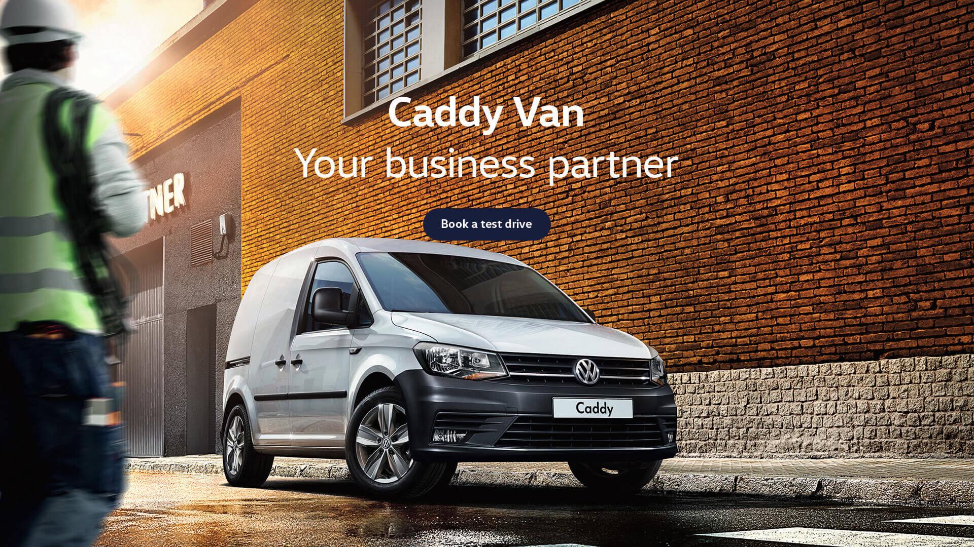 Volkswagen Caddy Van. Your business partner. Test drive today at Shepparton Volkswagen